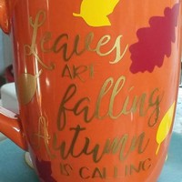 Leaves are falling, Autumn is Calling Coffee Mug