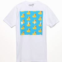 Neff Rubber Ducky Square T-Shirt - Mens Tee - White