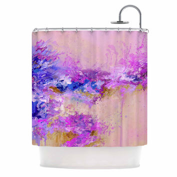 "Ebi Emporium ""When Land Met Sky 2"" Purple Pink Shower Curtain"