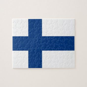 Puzzle with Flag of Finland