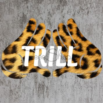 animal print mickey hand trill tshirt