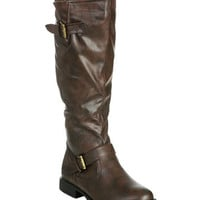Tall Moto Buckle Boot (Wide Width) | Shop Shoes at Wet Seal