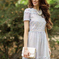 Julianne Blue Lace Dress