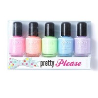 Pretty Please Nail Polish Set of 5  | Claire's