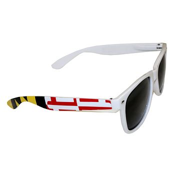 Maryland Flag Stretch Sides (White) / Shades