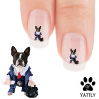 """Boston Terrier """"My Corporate Boston!"""" Nail Art Decals( NOW 50% MORE FREE)"""
