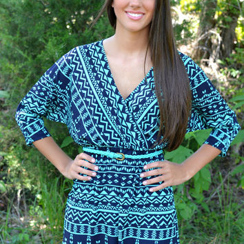 Digital Aztec Navy Tunic
