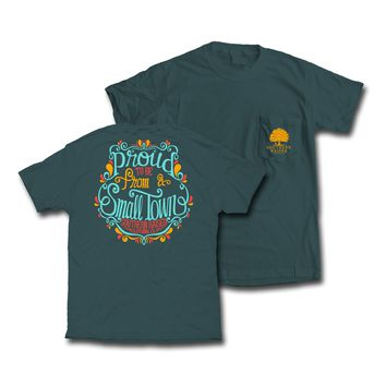 "Southern Raised ""Swirly Proud"" Tee on Comfort Colors"