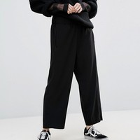 Weekday Crop Woven Wide Leg Pant at asos.com