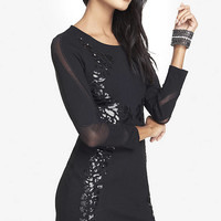 SEQUIN EMBELLISHED MINI SHEATH DRESS from EXPRESS