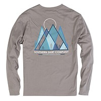Pikes Peak Long Sleeve Tee in Frost Grey by The Southern Shirt Co. - FINAL SALE