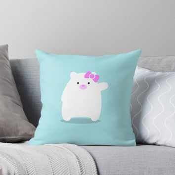 'Hello Cub!' Throw Pillow by EuGeniaArt