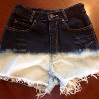 Calvin Klein Highwaisted Ombré Cut Off Shorts by SweetlyDistressed