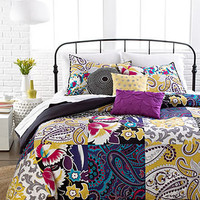 Sunshine Patchwork 3 Piece Duvet Cover Sets - Bed in a Bag - Bed & Bath - Macy's