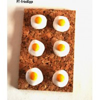 Fried Egg Giant Pushpins Thumbtacks for Corkboards Bulletin Board Pins - Blue Morning Expressions