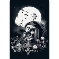 S2516 The Nightmare Before Christmas Jack Skellington Classic Wall Art Painting Print On Silk Canvas Poster Home Decoration