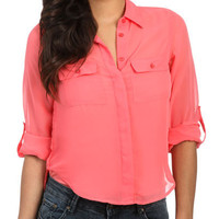 High-Low Button Shirt | Shop Tops at Wet Seal