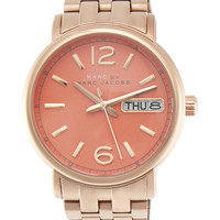 Marc by Marc Jacobs Watches Women's Rose Gold Tone & Peach Dial Watch, 38mm