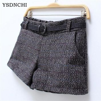 Winter Short Trouses Design Shorts Woolen Wide Leg Shorts Plus Size Warm Boot Sexy For