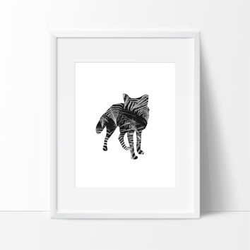 Wild Fox in Leaves Wall Art, Wall Decor Ideas