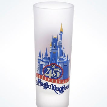 Disney Parks 45th Anniversary Magic Kingdom Since 71 Mini Glass New