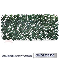Windscreen4less Artificial Leaf Faux Ivy Expandable/Stretchable Privacy Fence Screen (Single Sided Leaves)