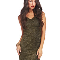 Metallic Marilyn Bodycon Dress | Wet Seal