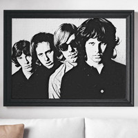 The Doors Painting Poster Art Painting Print Canvas Print Music Poster Canvas Poster Design Wall Art Home Gift Rock Poster