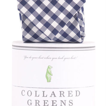 COLLEGIATE QUAD TIE NAVY/WHITE AMERICAN MADE