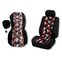 Car Seat Covers Skull printing Pattern Auto Seat Cover for Toyota Volkswagen BMW Protector