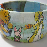 Hand Decorated Wooden Bangle, Winnie the Pooh and Friends