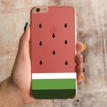 360¡ã Full Protection Watermelon Clear Iphone Cover Cute Transparent Cases