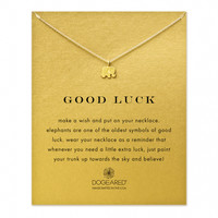 Good Luck Elephant Necklace, Gold Dipped | Dogeared