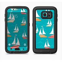 The Vector Colored Sailboats Full Body Samsung Galaxy S6 LifeProof Fre Case Skin Kit