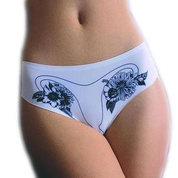 Ovary Panty- Black/White