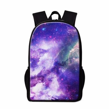 2016 Latest Design Galaxy School Bags for Teenagers Trendy Backpacks for Primary Students Children Fashion Bookbags Cool Mochila
