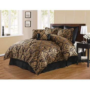 Walmart: Victoria Classics Bellagio 8-Piece Bedding Comforter Set, Black
