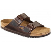 Men's Arizona Sandal with Soft Footbed in Brown Amalfi Leather by Birkenstock