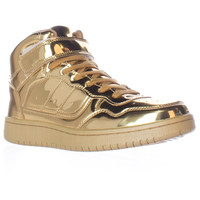 maden girl Sliick High Top Fashion Sneakers - Gold