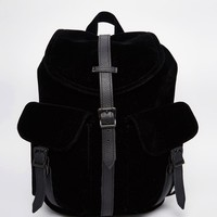 Herschel Supply Co Dawson Micro Velvet Backpack with Leather Trim