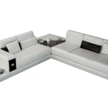 A1 Leather Sectional by Scene Furniture | Opulentitems.com - Opulentitems.com