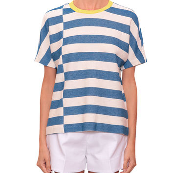 Tory Burch Sandy cotton piqué t-shirt
