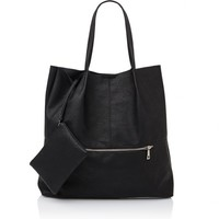 UNSTRUCTURED ZIPPER TOTE