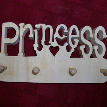 Wooden Princess wall peg rack