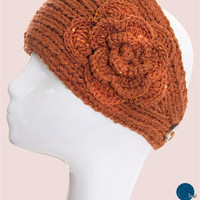 * Sparkle Flower Knit Headband Multiple Colors