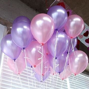 50pcs/lot Purple 10inch 21 colors Latex Helium Balloons Inflatable Wedding Balloons Children Birthday Party Decoration Air Balls