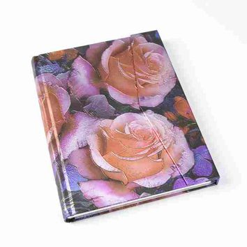 Metallic Floral Magnetic Journal