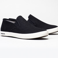 Baja Slip On Black Washed Linen-Seavees