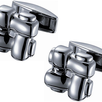 Knotted Titanium Cufflinks - eLighters.com
