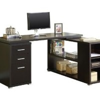 Monarch Specialties Cappuccino Hollow-core L Shaped Computer Desk